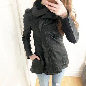 Rudsak Genuine Leather Lined Black Moto Jacket